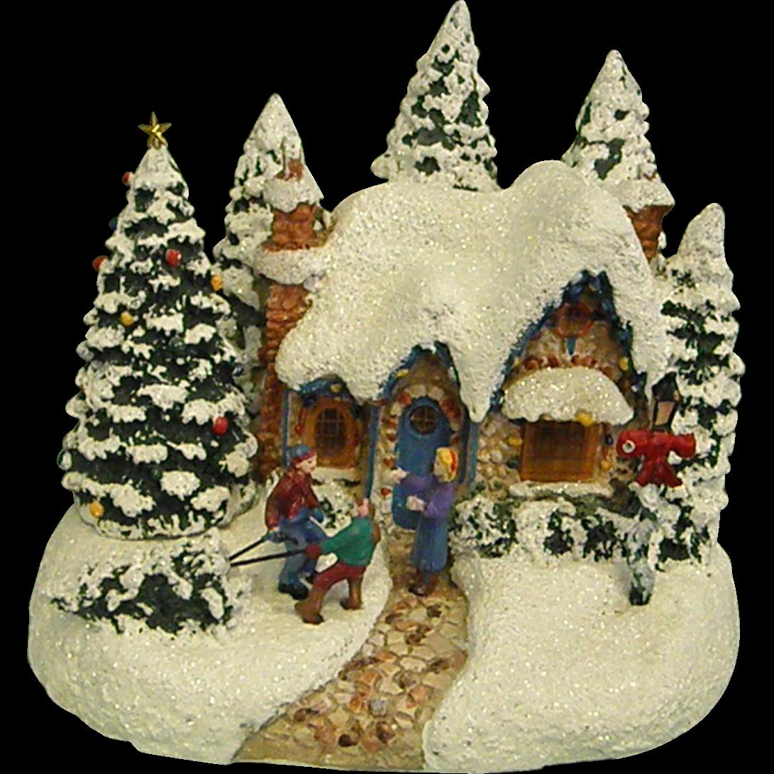 Thomas Kinkade Christmas Scene Country Homecoming
