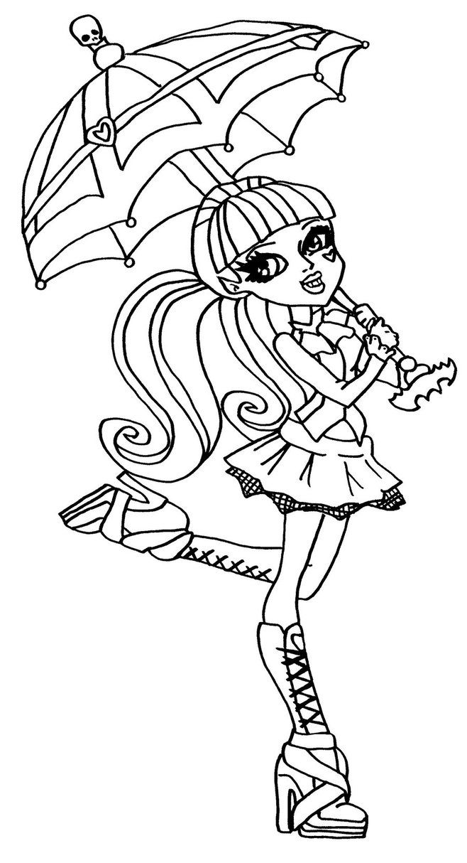 Draculaura Monster High Coloring Page | Monster High Birthday party ...