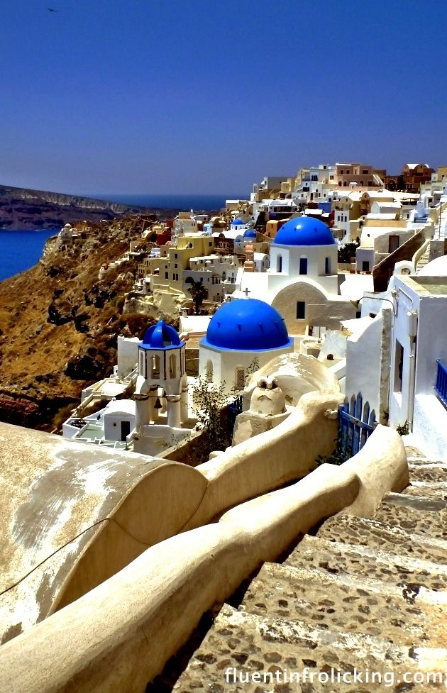A picture says a thousand words...Oia, Santorini #Greek ...