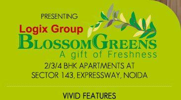 Logix Blossom Greens Noida - buy 2, 3, 4 BHK apartments at