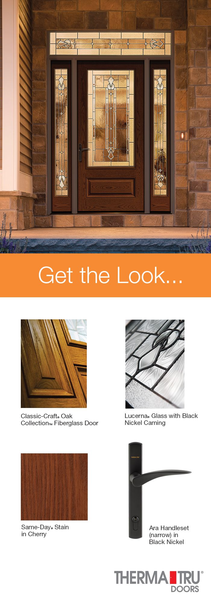 Therma-Tru Classic-Craft Oak Collection fiberglass door sidelites and transom with Lucerna & Therma-Tru Classic-Craft Oak Collection fiberglass door sidelites ...