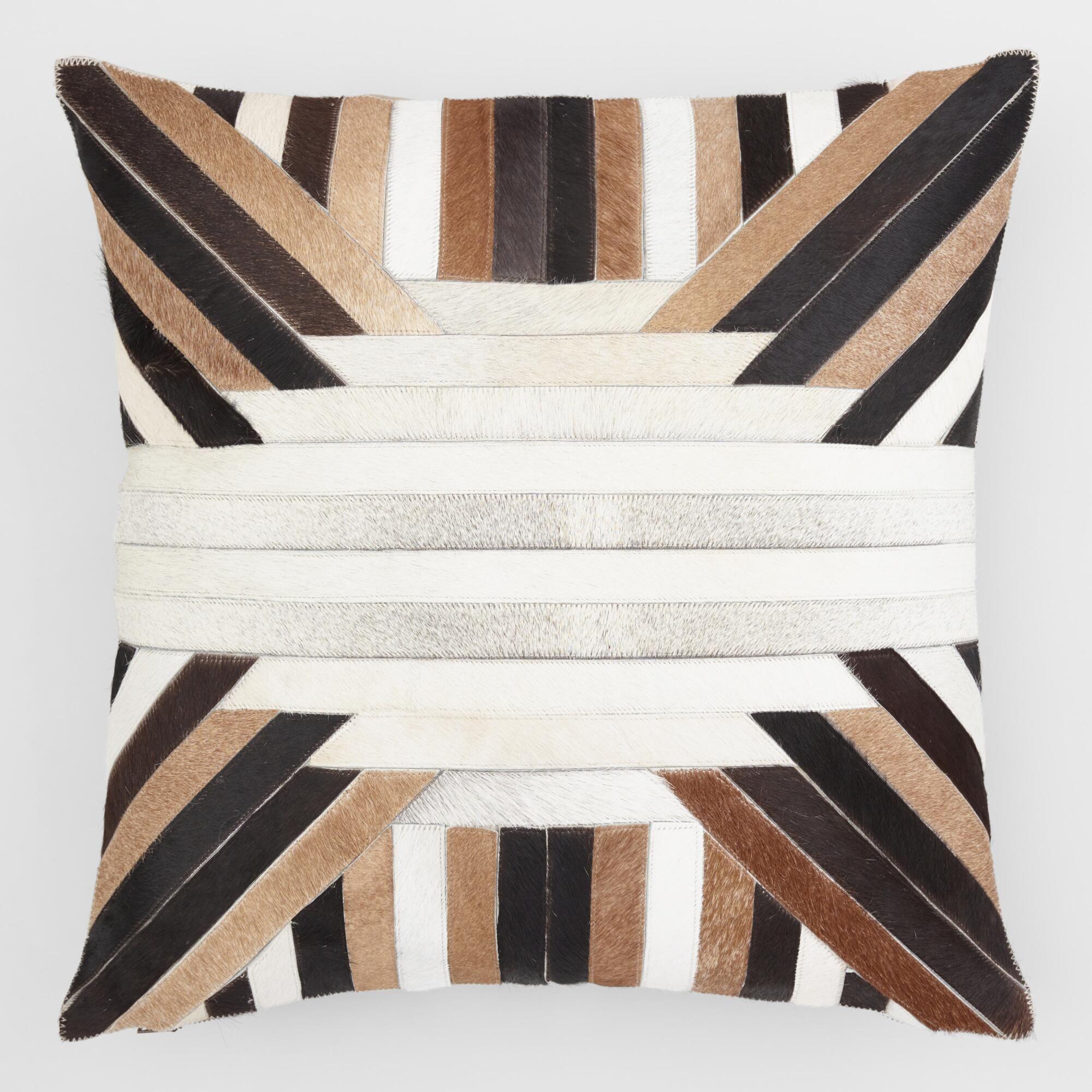Geometric Angle Jacquard Throw Pillow