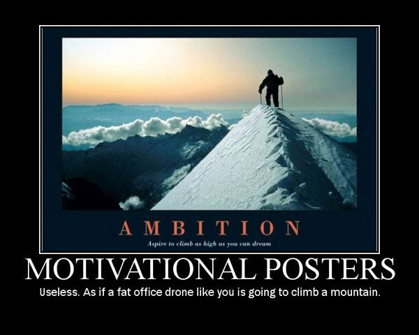 fake funny motivational poster