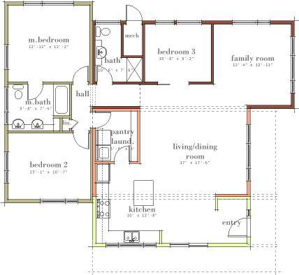 open plan Floor Plans Pinterest Open plan Modern house