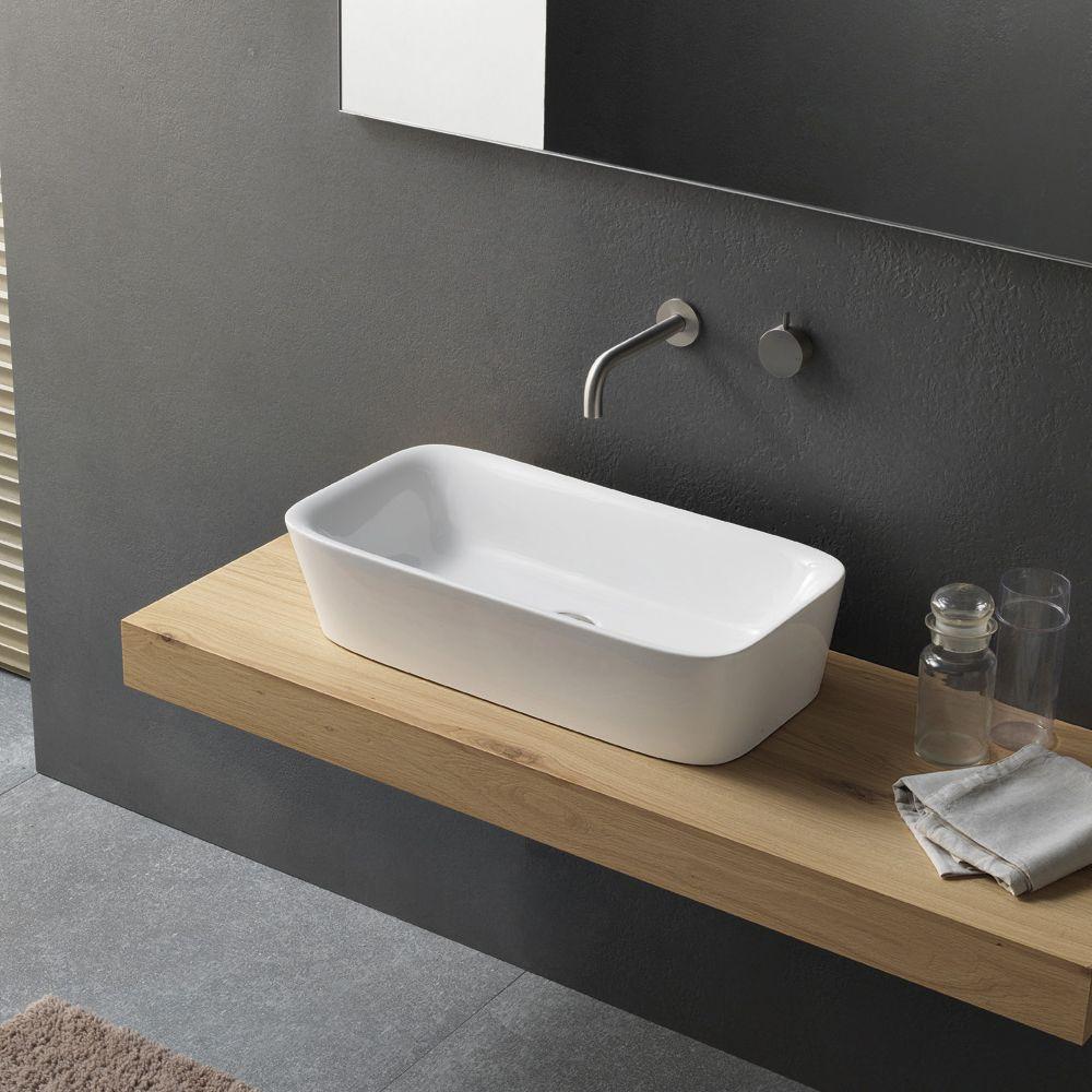 lavabo ad appoggio in ceramica dal design moderno novello innenarchitektur bagno bad. Black Bedroom Furniture Sets. Home Design Ideas