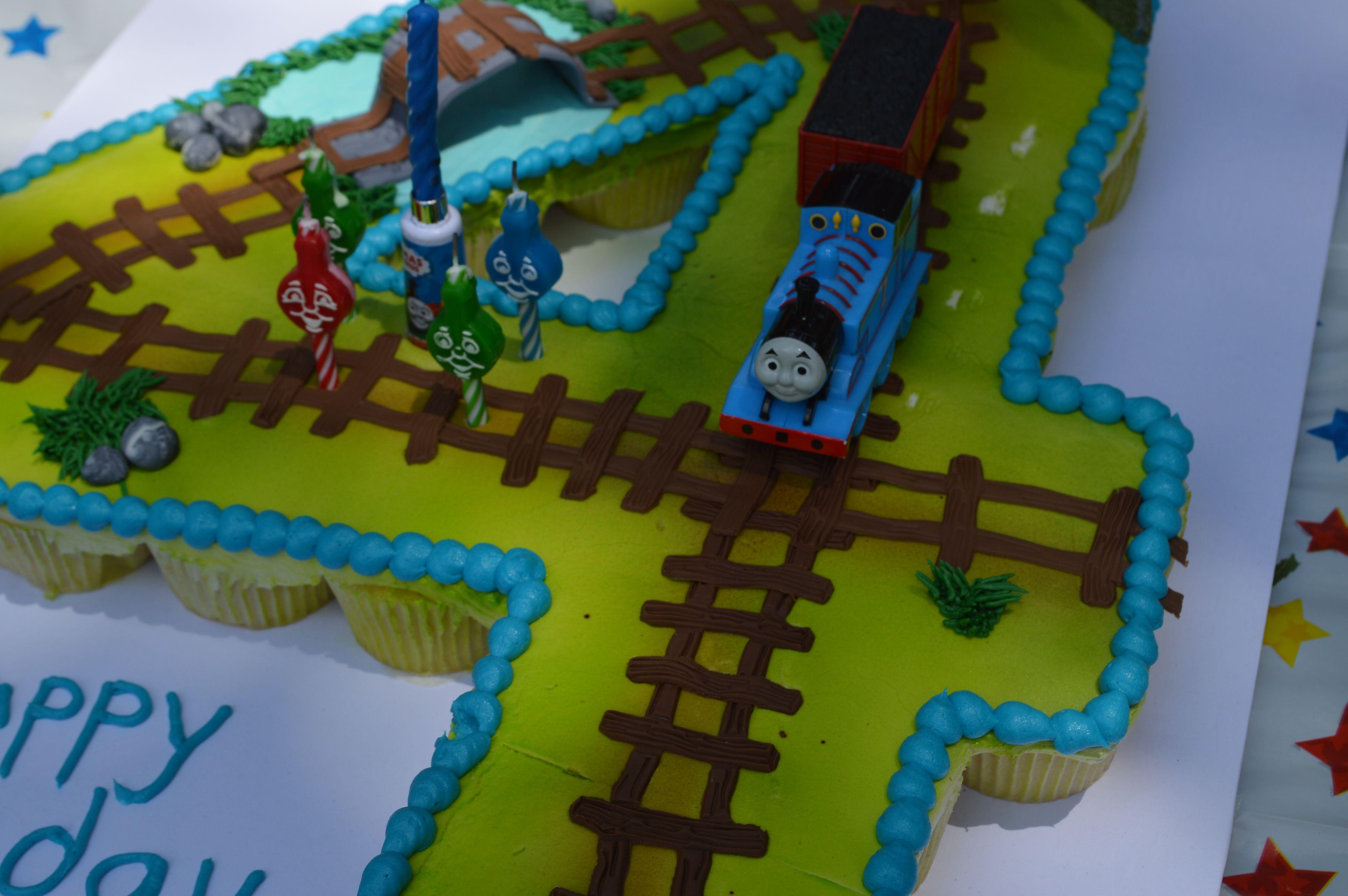 Thomas The Train Pull Apart Cupcake Cake