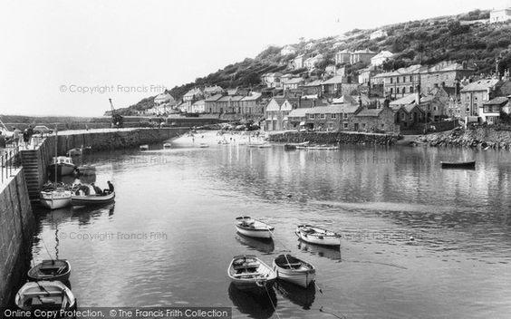 Mousehole, The Harbour c.1955: