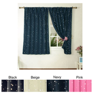 Star struck insulated thermal blackout 63 inch curtain for Thermal star windows
