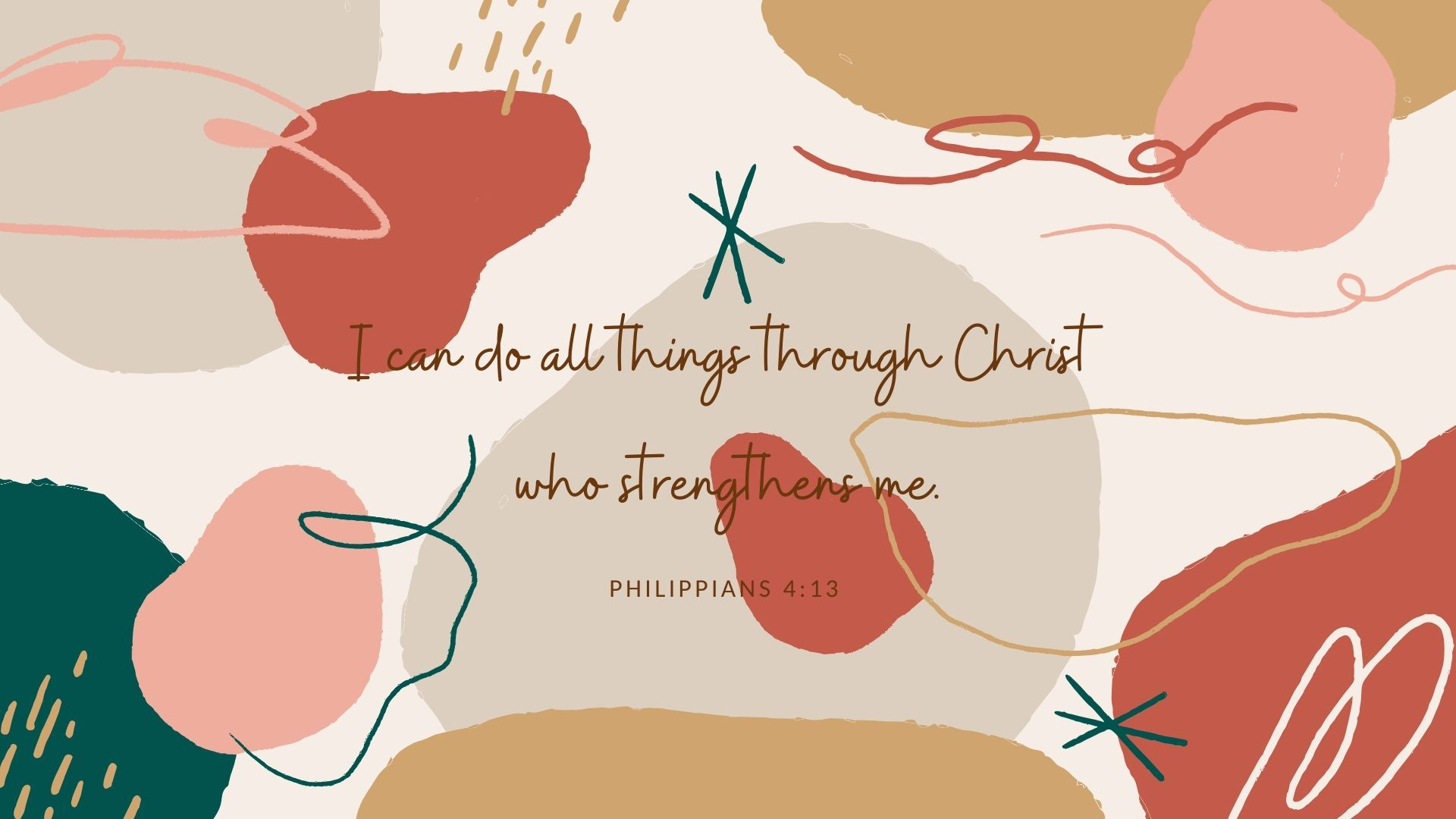 Desktop Wallpaper - Bible Quotes (Philippians 4:13)