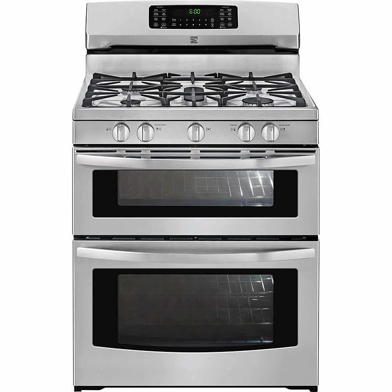 Kenmore 78143 5 9 Cu Ft Double Oven Gas Range Stainless Steel