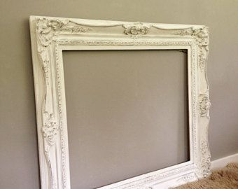 Large Ornate Frame Vintage Wood Baroque Wall Hanging Leaning Mirror Frame Shabby Chic French Provincial Whi Painting Mirror Frames Ornate Frame Ornate Mirror