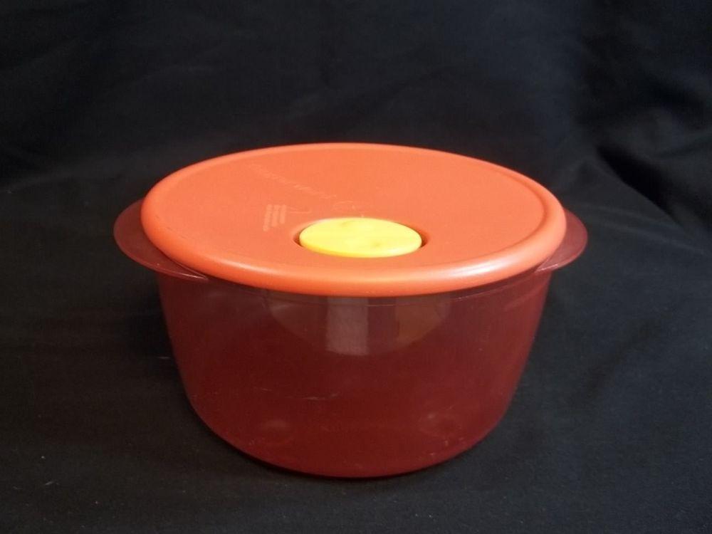 Tupperware Rock N Serve Bowl Pink Red Lid 8 1 2 Cup Round 3704 Tupperware Plastic Bowls Bowl Tupperware