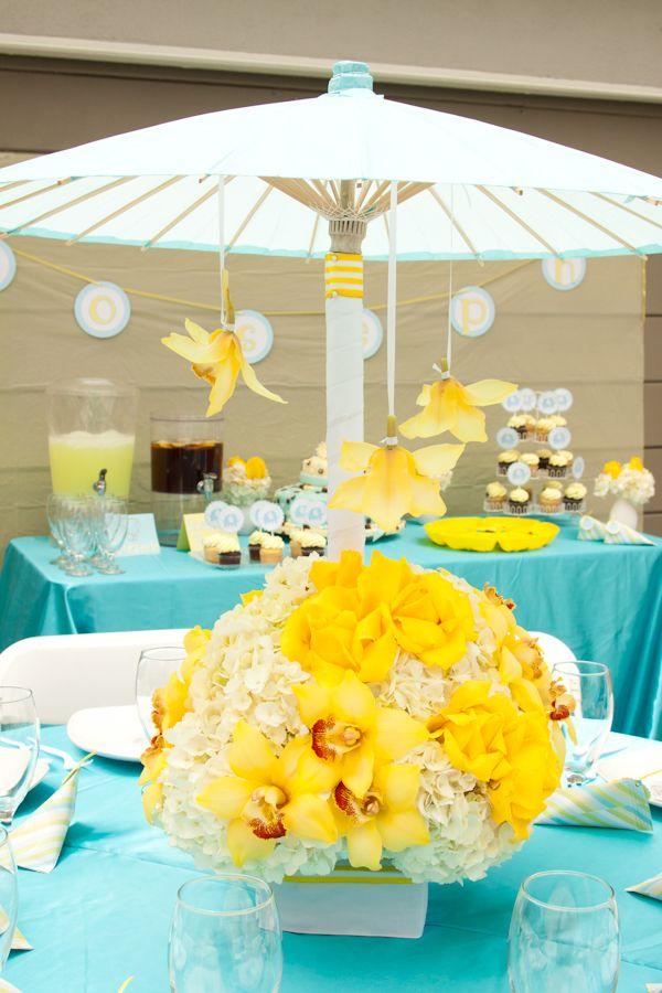 Umbrella Centerpiece Baby Shower Ideas Bridal Shower