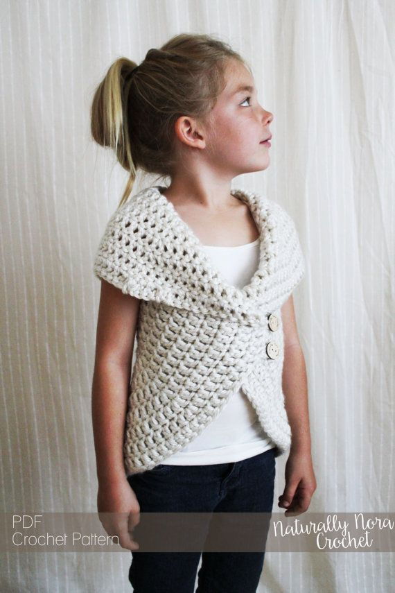 Crochet Pattern: The Julia Sweater -Toddler, Child, Adult S,M,L ...