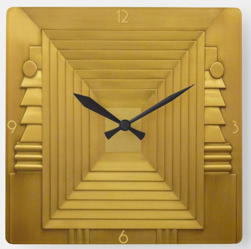 Art Deco Style Acrylic Wall Clock Zazzle Com Clock Wall Art Wall Clock Art Deco Fashion