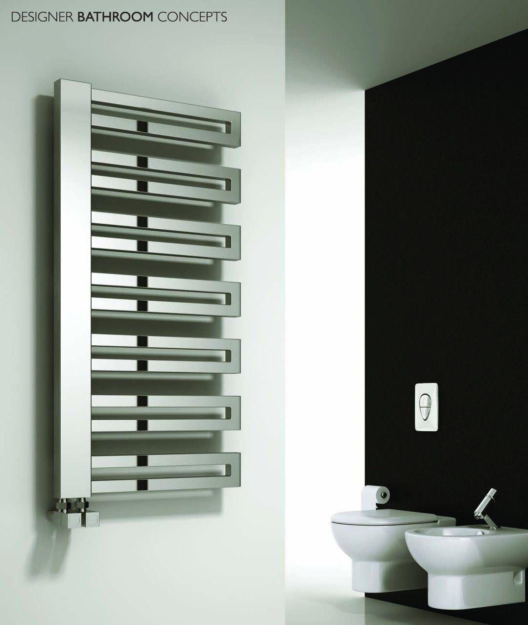 Designer heated towel rails for bathrooms - Ginosa Designer Heated Towel Rails From Designerbathroomconcepts Com