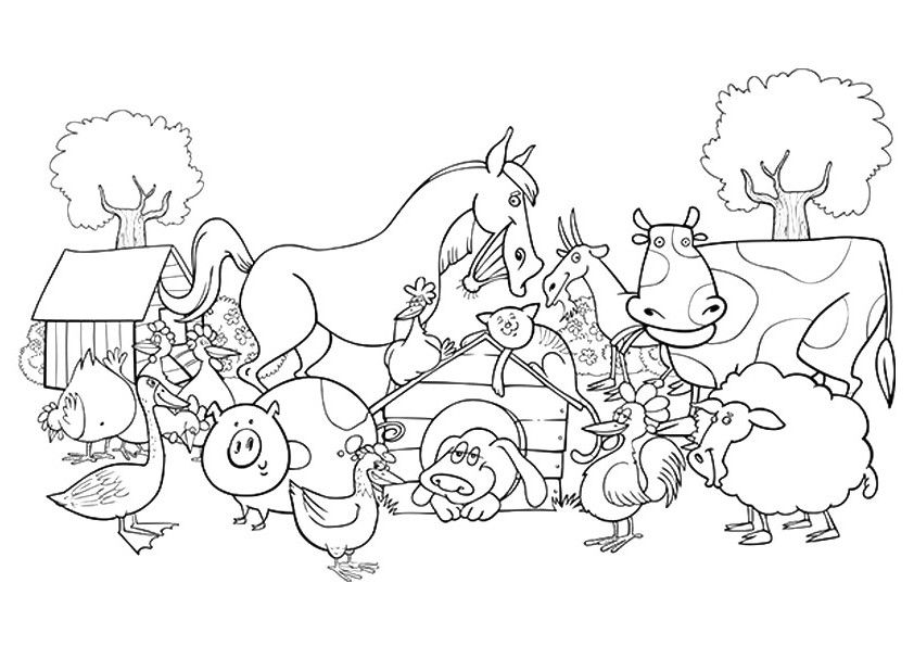 - 20 Interesting Free Printable Farm Coloring Pages For Kids, Find And Save  Ideas About Farm… Farm Animal Coloring Pages, Animal Coloring Pages, Farm  Coloring Pages
