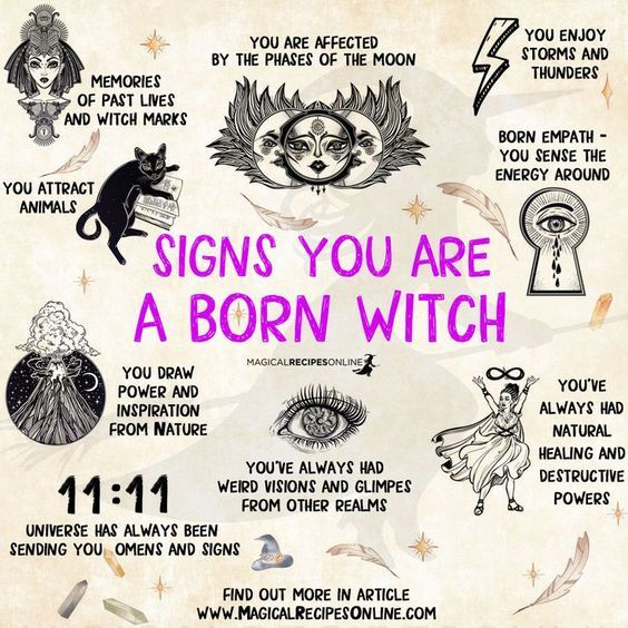 9 Signs you are a Natural Witch - Magical Recipes