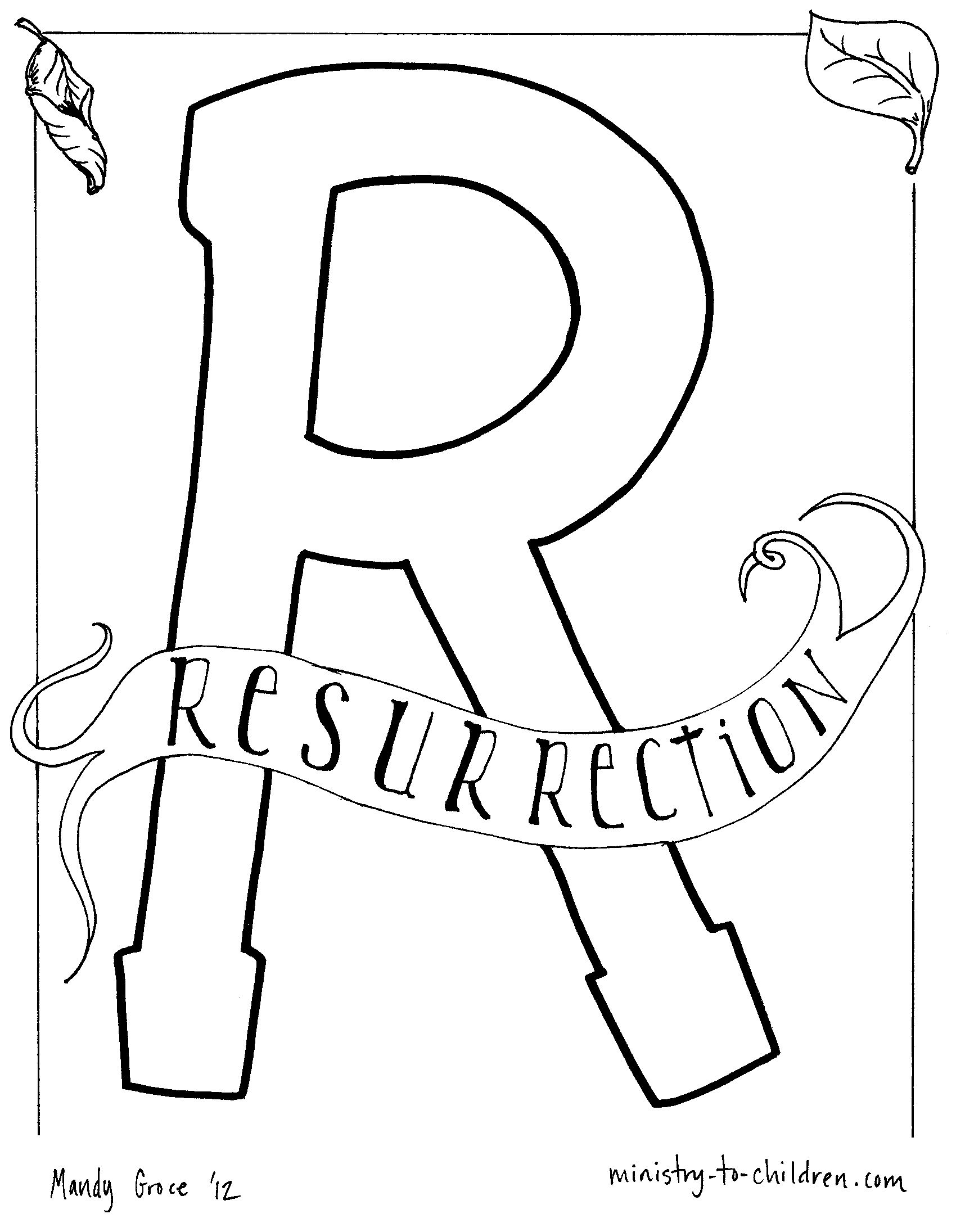 Alphabet Bible Coloring Pages