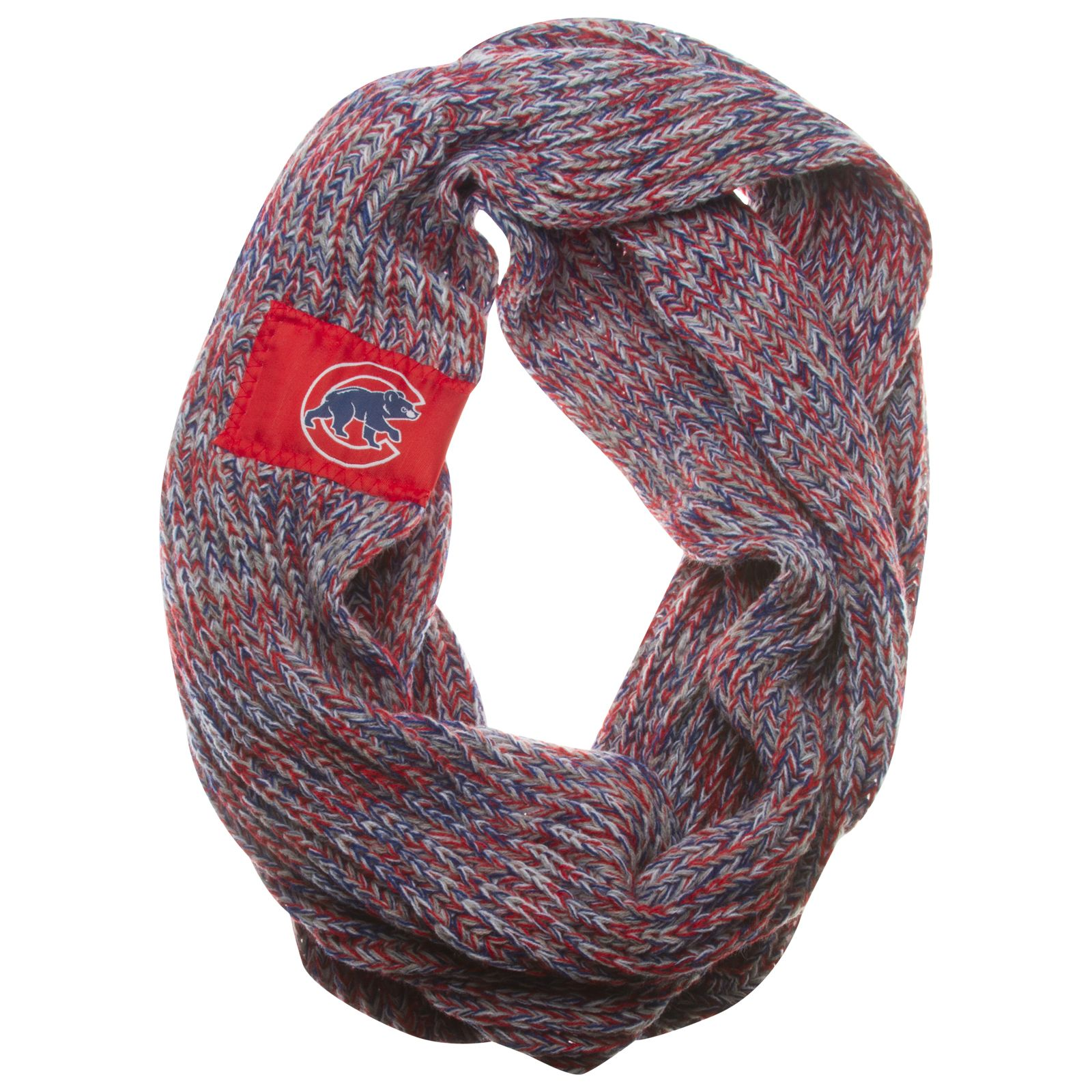 chicago cubs crawl bear logo knit infinity scarf by. Black Bedroom Furniture Sets. Home Design Ideas