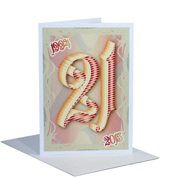 21st Happy Birthday Card For Boy Or Girl By Stuartconcepts Best