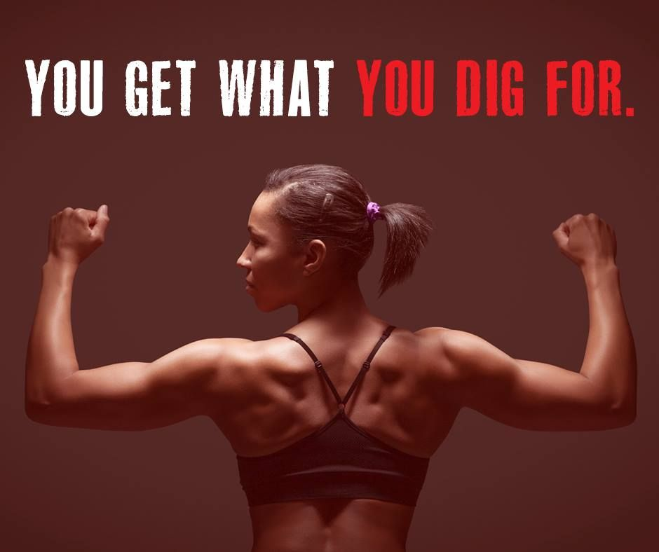 #DigDeep and WORK for the change you want! #FitnessFriday