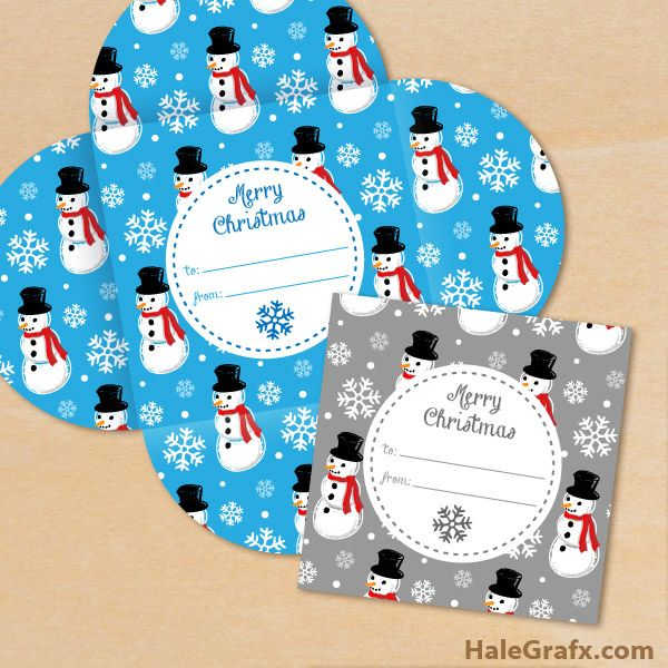 FREE Printable Christmas Snowman Pattern Gift Card Holders Each - printable christmas gift certificate
