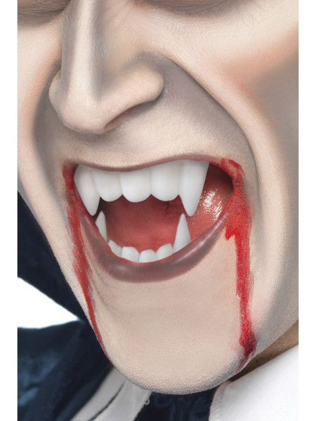 HALLOWEEN VAMPIRE FANGS CAPS TEETH PUTTY DRACULA HORROR FAKE BLOOD FACE MAKE UP