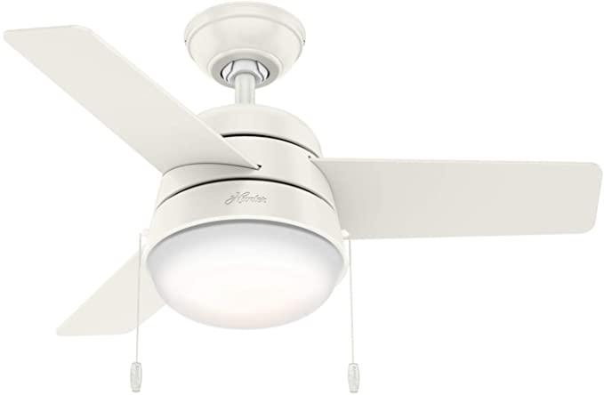 Hunter Fan Company 59301 Hunter 36 Aker Fresh White Ceiling Fan With Light Amazon Com Ceiling Fan Ceiling Fan With Light Fan Light 36 inch ceiling fan with light