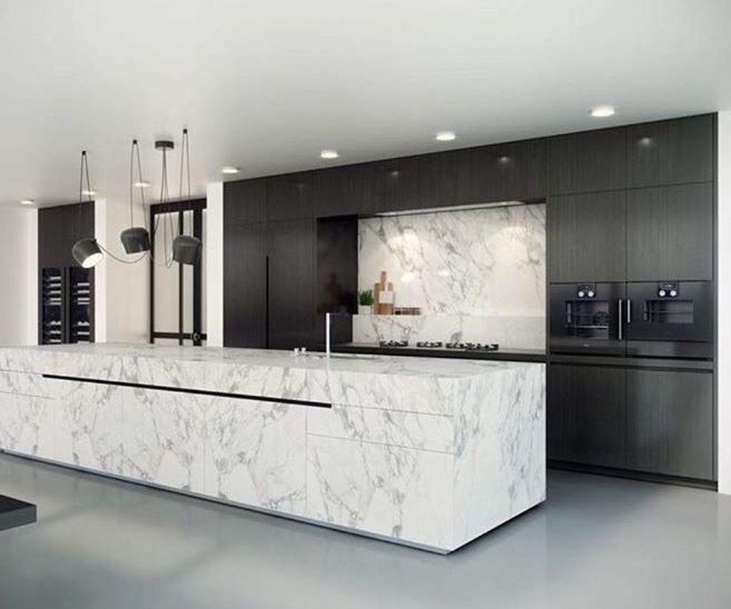 50 Stunning Modern Kitchen Design Ideas Homyhomee Modern Kitchen Design Luxury Kitchens Luxury Kitchen Design