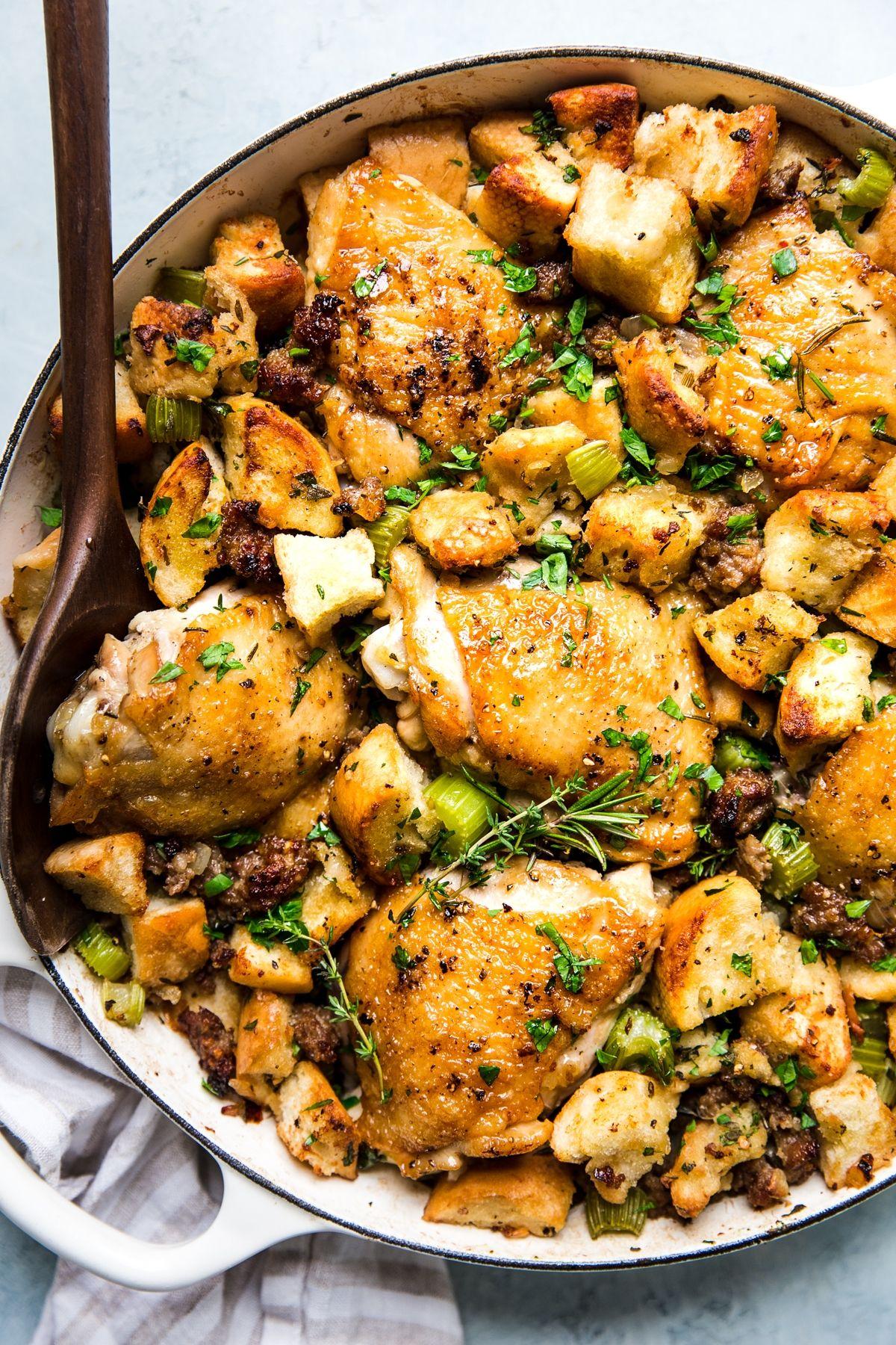 One Pot Chicken Stuffing Casserole Recipe Stuffing Casserole One Pot Chicken Food Recipes