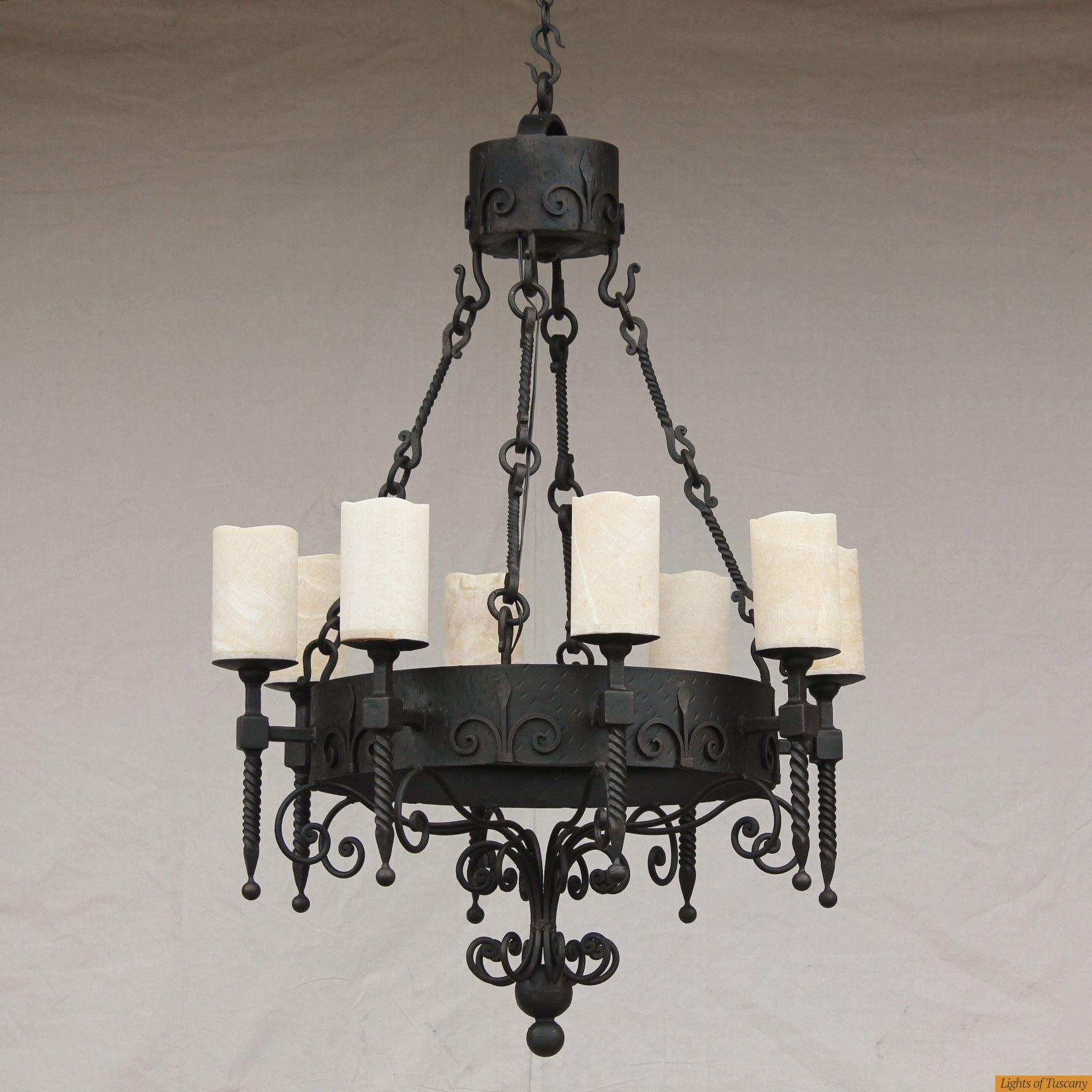 Onyx Spanish Wrought Iron Chandelier Spanish Style Furniture