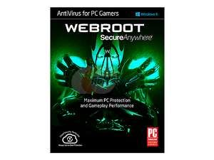 Webroot SecureAnywhere AntiVirus + Optimizer for PC Gamers 1 Device 1 Year - Download