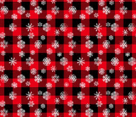 Colorful Fabrics Digitally Printed By Spoonflower Buffalo Plaid Snowflakes Black Red Snowflake Wallpaper Spoonflower Fabric Printing On Fabric