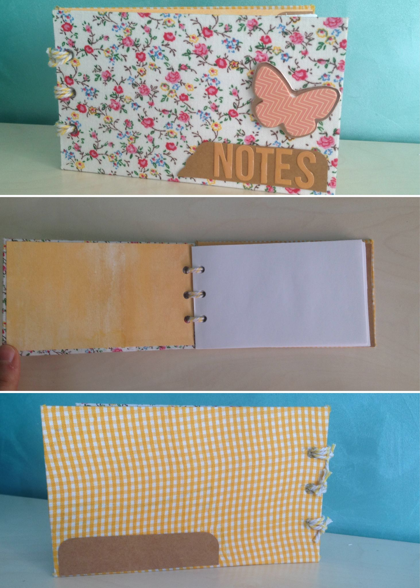 #handmade note pad #notes #scrapbooking