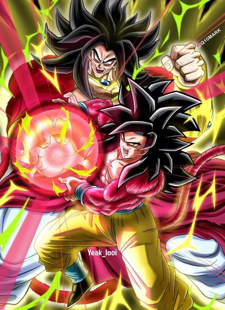 Broly Super Saiyajin Fase 4 Vs Goku Super Saiyajin Fase 4 Broly Ssj4 Personajes De Goku Tatuajes De Angeles Guerreros