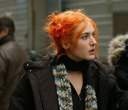 Myhertsgard Kate Winslet On The Set Of Eternal Sunshine Of