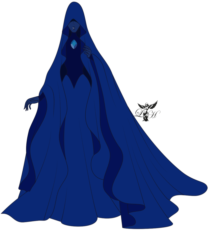 Steven universe fan art diamante blu blue diamond steven