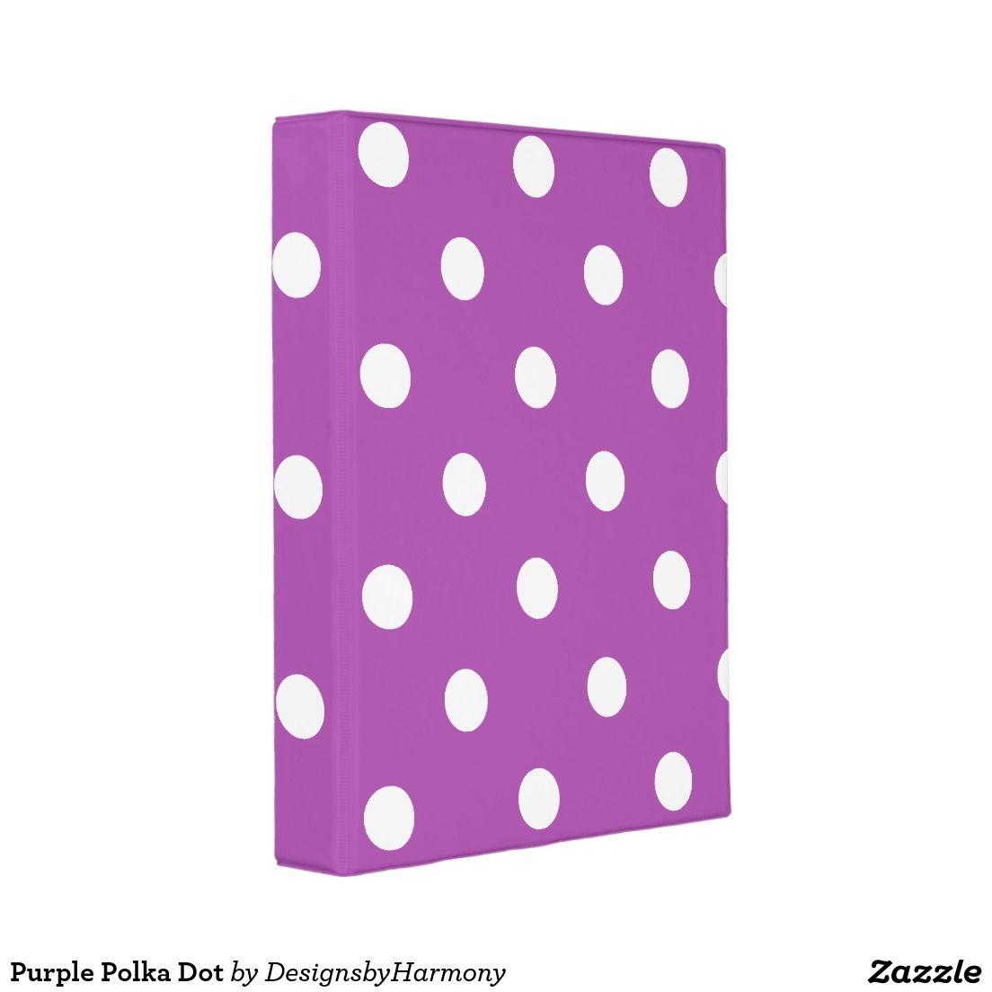 Purple Polka Dot Mini Binder