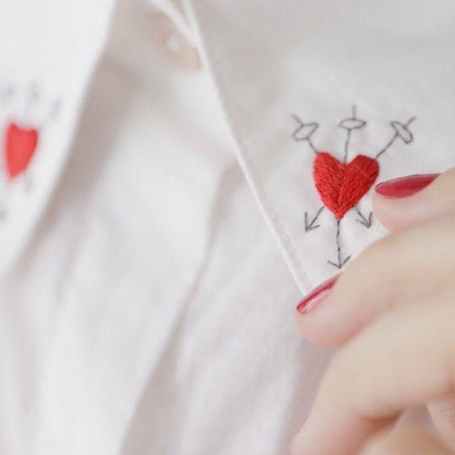 detalhe camisa Wild at heart #bordadoamao