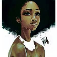 Resultado de imagem para desenho afro tumblr