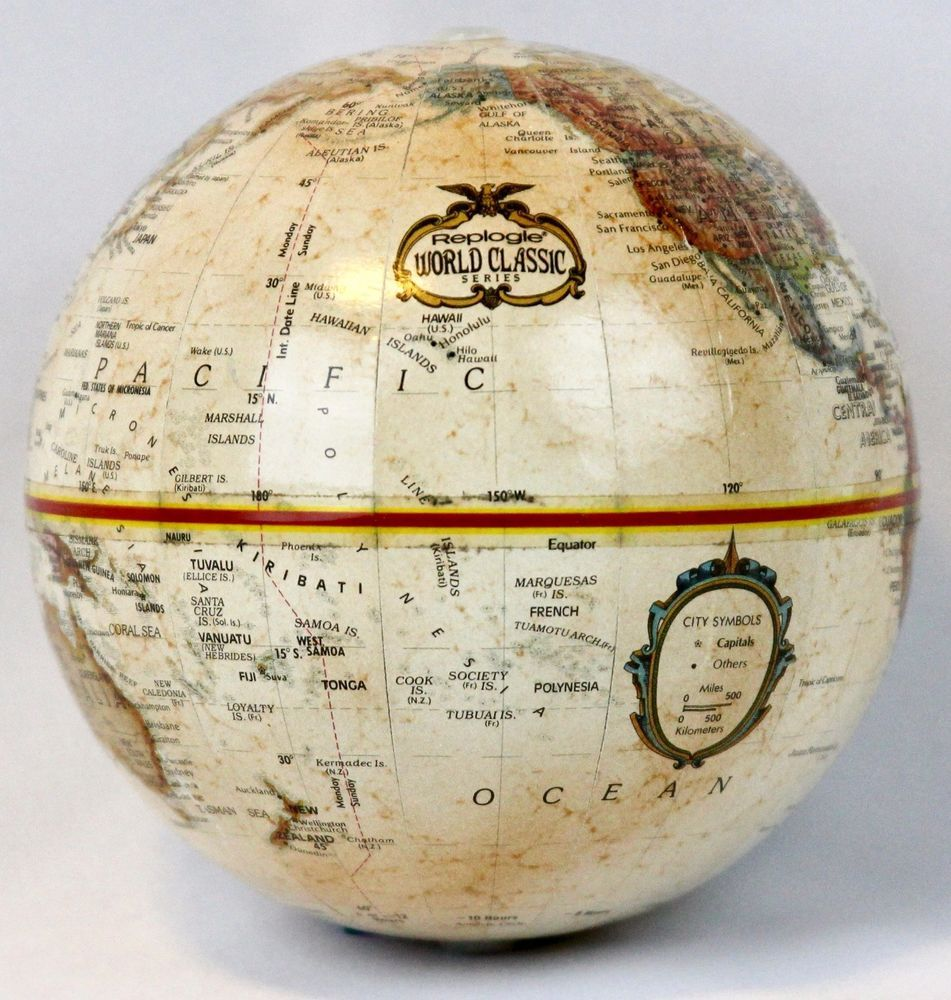 "Replogle Globe Home Decor Ball Sphere World 7.5"" Bowl Vase Fill No Stand Small #ReplogleGlobes"