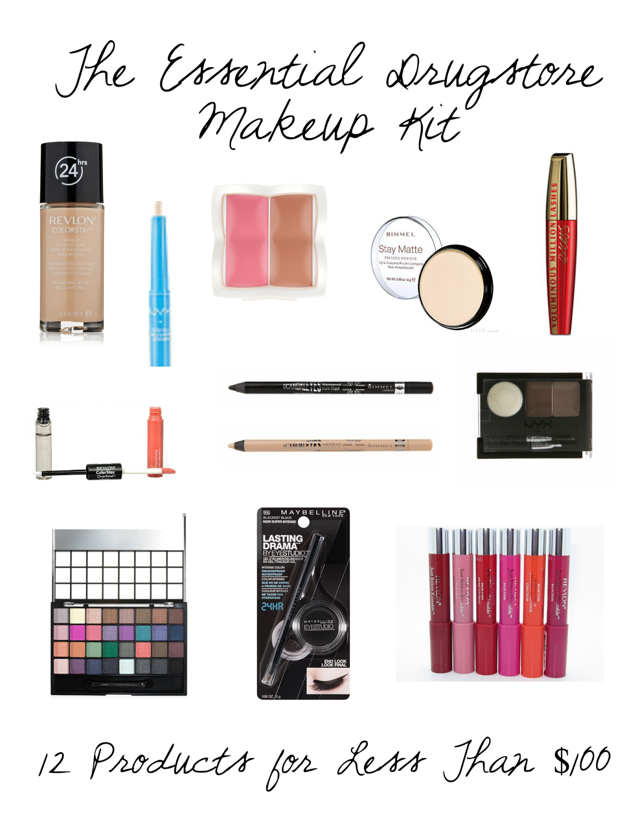 Yours Truly The Essential Drugstore Makeup Kit
