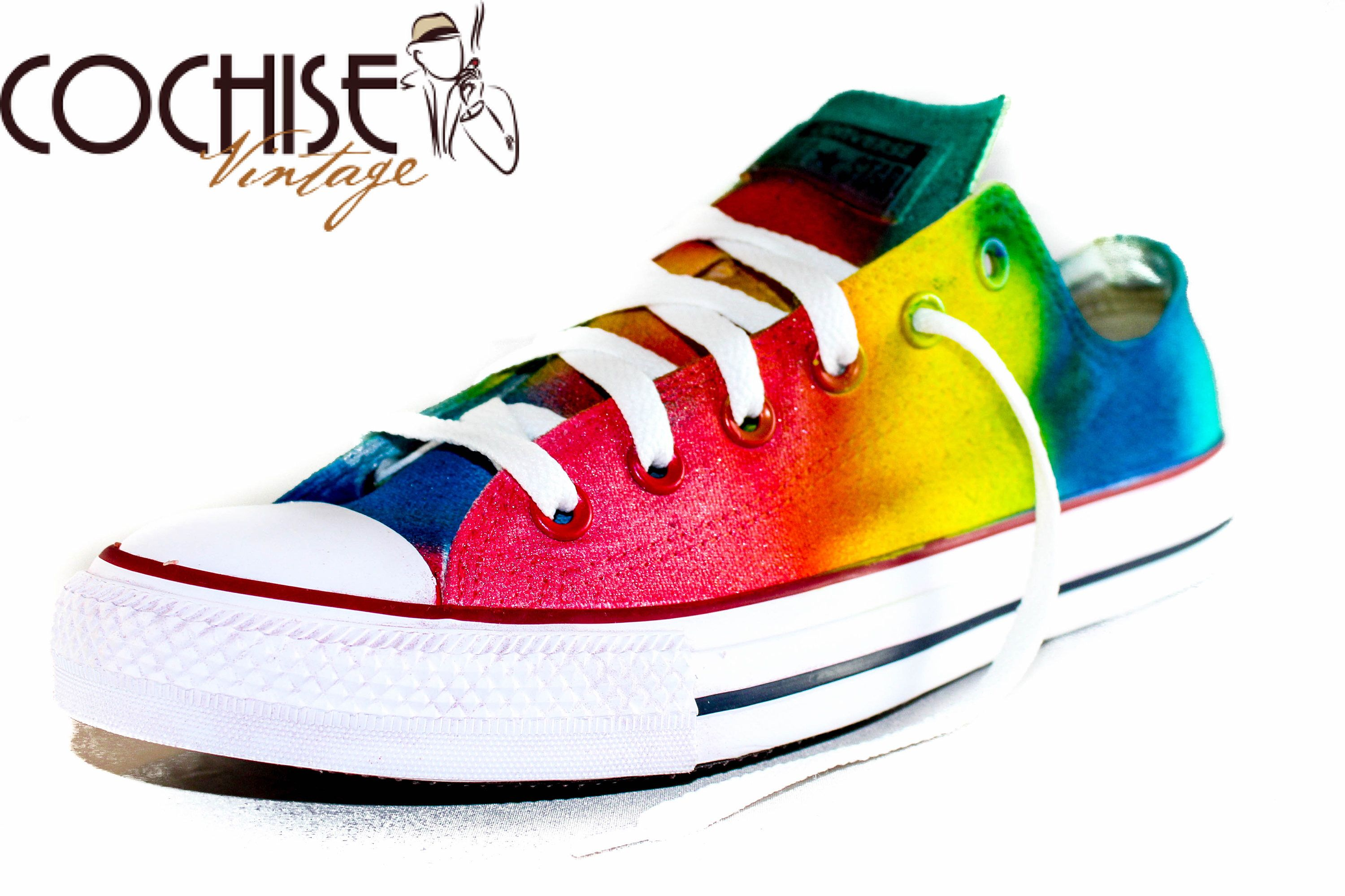 47fb150c9dc2 Excited to share the latest addition to my  etsy shop  Rainbow Color Custom  AirBrush Converse Chuck Taylors All Stars Chuck Taylors