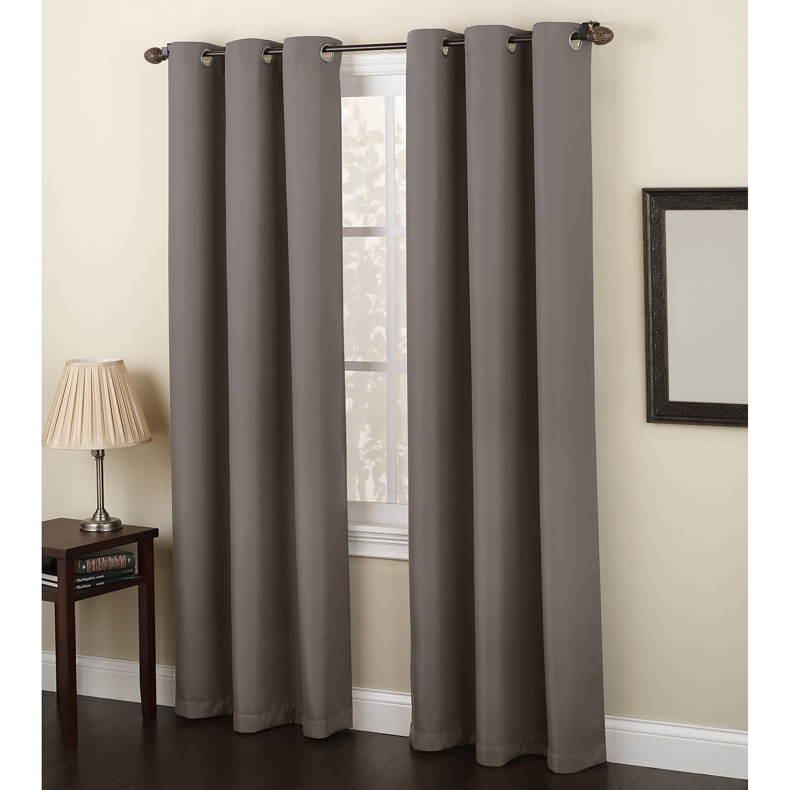 No 918 Montego Grommet Textured Curtain Panel Panel Curtains