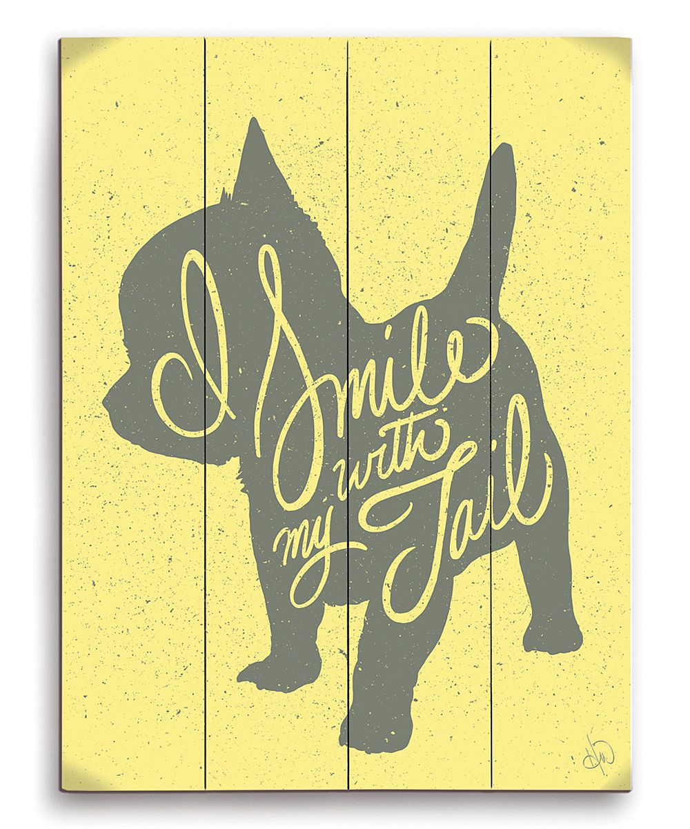 Yellow \'I Smile With My Tail\' Wall Art | Dogs | Pinterest | Walls ...