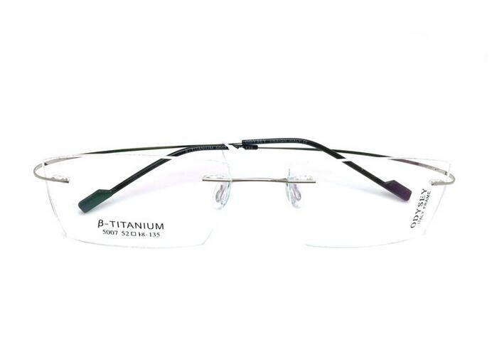 Titanium Eyeglasses Rimless Optical Ultralight Glasses Frame No ...