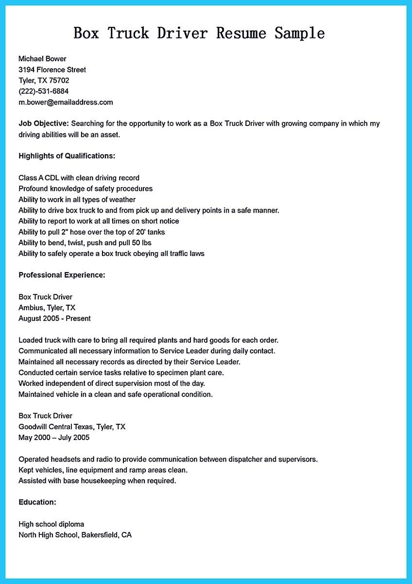 Nice Stunning Bus Driver Resume To Gain The Serious Bus Driver Job