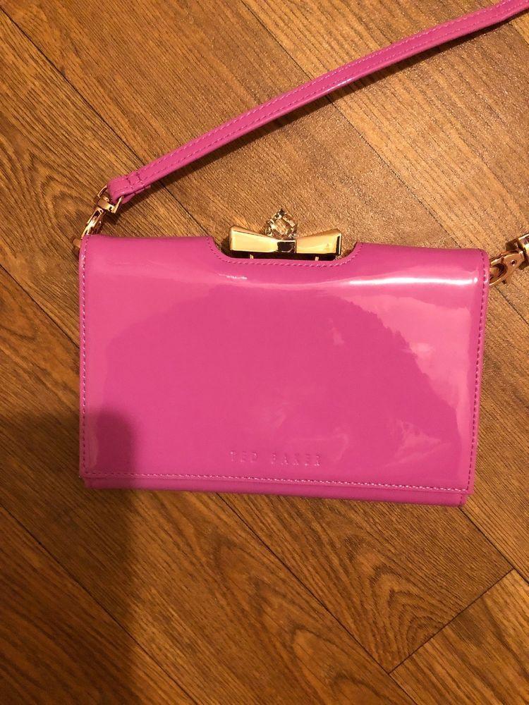 Ted Baker Pink Fuchsia Clutch Women Bag Fashion Clothing Shoes
