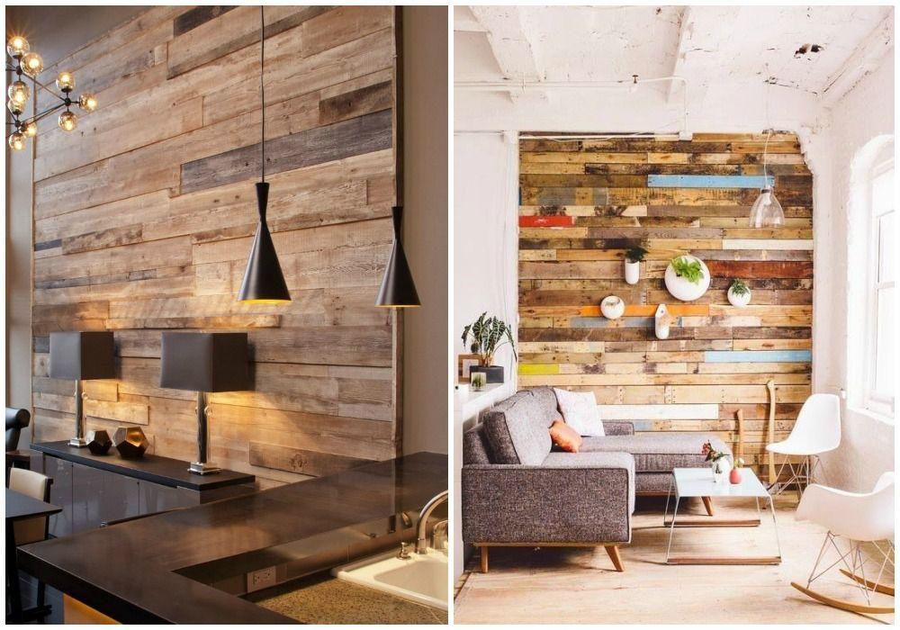 02 forrar una pared con madera reciclada taller mueble for Revestimiento interior madera